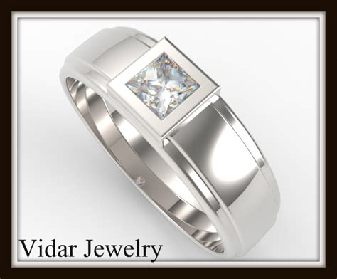 gold princess cut engagement rings mens princess cut wedding ring vidar jewelry