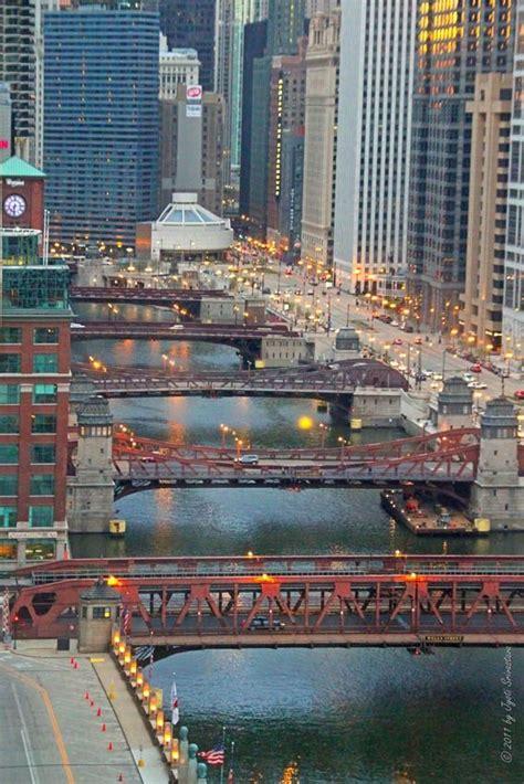 chicago river downtown bridges chi town br 252 cke