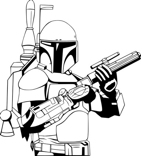 Boba Fett Drawing At Getdrawingscom Free For Personal