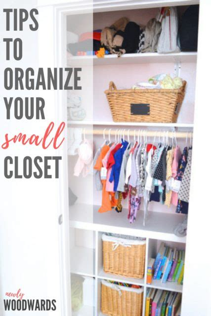 Inexpensive Closet Organization Ideas by How To Organize A Small Closet On A Budget Newlywoodwards