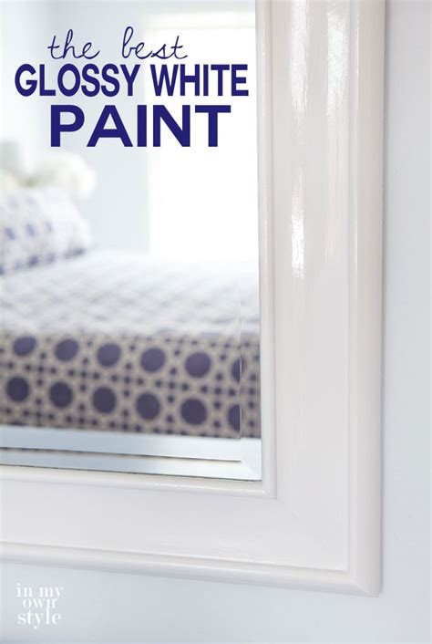 what is the best paint to use on kitchen cabinets my two favorite glossy white paints in my own style
