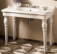 lovely traditional bathroom sinks Console Sink Brass Legs | Home Decoration Club