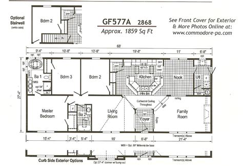 Wide Mobile Home Floor Plans by Outstanding 4 Bedroom Wide Mobile Home Floor Plans