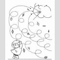 Fall Trace Line Worksheet For Kids  Crafts And Worksheets For Preschool,toddler And Kindergarten