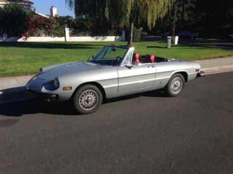 1977 Alfa Romeo Spider by Buy Used 1977 Alfa Romeo Spider In Chula Vista California