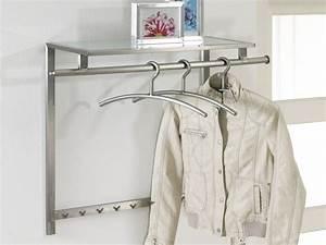 Design Garderobe Edelstahl : wandgarderobe 90x70 edelstahl matt glasablage sale ~ Michelbontemps.com Haus und Dekorationen