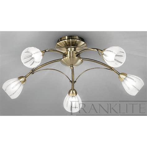 bronze flush ceiling light franklite fl2207 5 chloris bronze 5 light flush ceiling