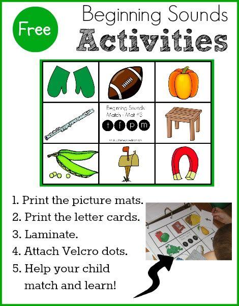 letter sounds for preschoolers free beginning sounds activity for preschool 340