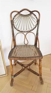 Chaise Vintage En Osier Colore Luckyfind