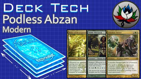 podless abzan aggro modern deck tech mtg youtube