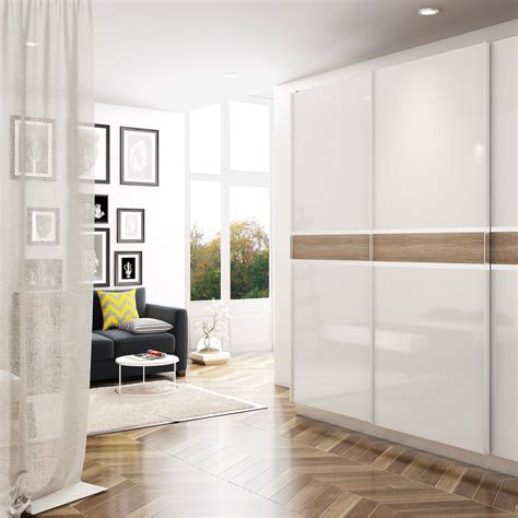 Bedroom White Wardrobes by Glossy White Modular Wardrobe For Sophisticated Homes