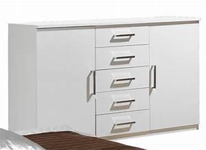 Commode 12 Tiroirs : commode 2 portes 5 tiroirs maggia blanc ~ Teatrodelosmanantiales.com Idées de Décoration