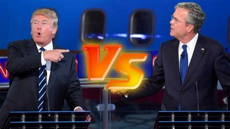 trump bush vs jeb donald debate presidential