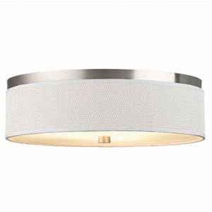 Inch flushmount drum shade ceiling light