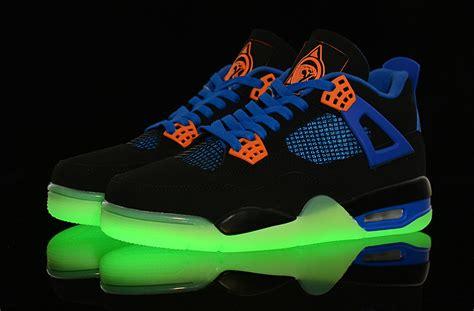 nike jordan light up best place nike air jordan 4 shoes men 39 s blue black white