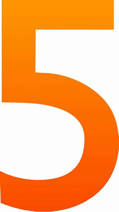 Number Clipart Five Clipartmag