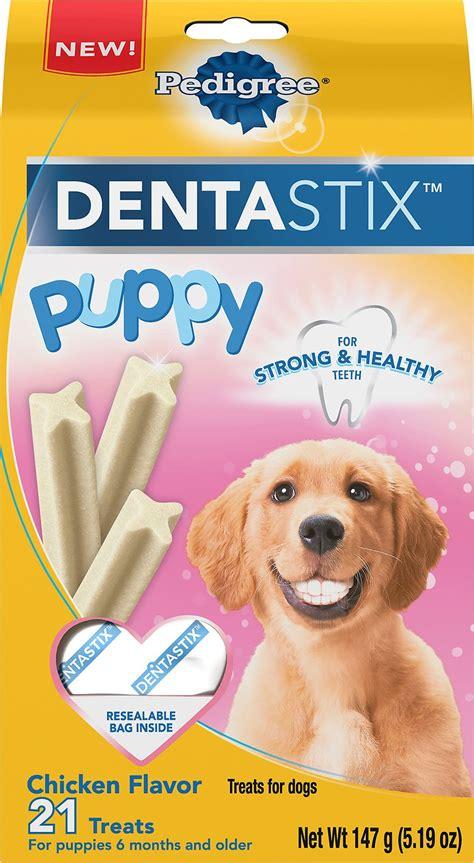 pedigree dentastix puppy chicken dog treats  count