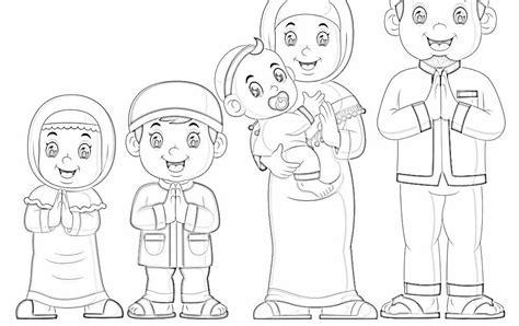 mewarnai gambar ayah dan ibu untuk anak tk