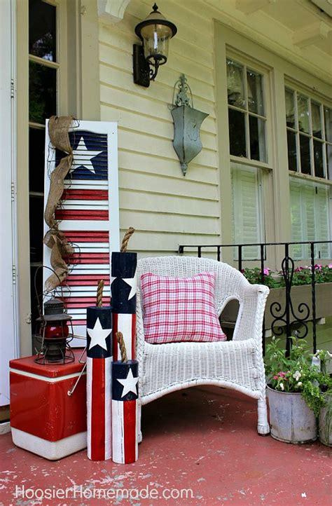diy wooden firecrackers summer front porch decorating