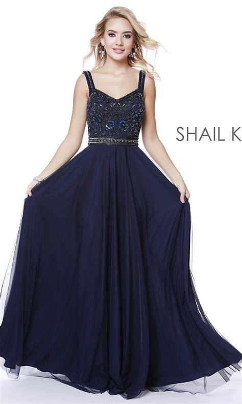 Long V-Neck A-Line Formal Prom Dress by Shail K   Dresses ...