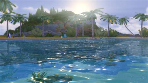 Mod The Sims  Tropical Beach With Real Waves