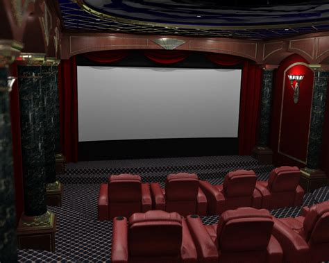 home theater interiors render 3d home theater renderings home theater
