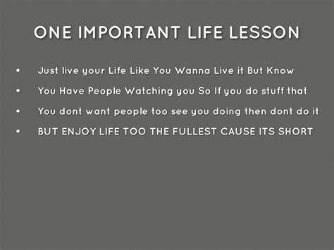 Life Lessons Of Teens By Lavell Jordanbrown