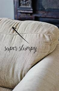 14 day decorating short cut challenge how to un sag your for Sagging sofa bed cushion support