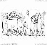 Funeral Clipart Fox Illustration Royalty Vector Prawny Copyright Regarding Notes sketch template