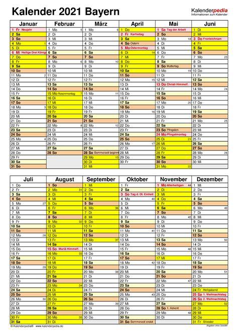 Verwenden sie die leeren kalendervorlagen juni 2021 unten, um die arbeitsaktivitäten dieses monats zu verwalten. Pdf Kalender 2021 Bayern Zum Ausdrucken