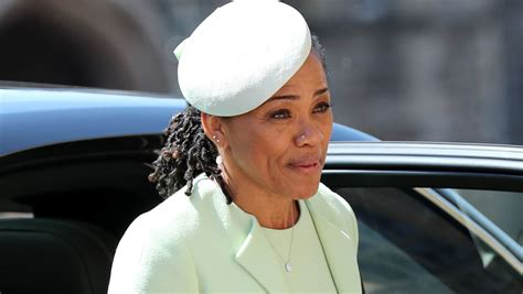 meghan markles mom doria drives    royal wedding