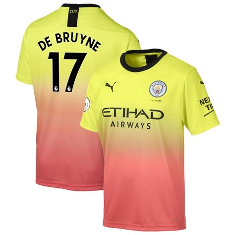 Men's Puma Kevin De Bruyne Yellow Manchester City 2019/20 ...