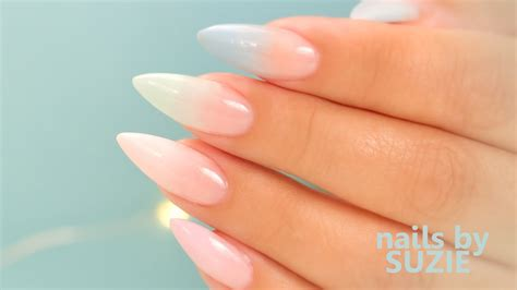 color acrylic nails pastel color fade acrylic nails step by step tutorial