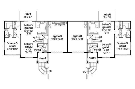 duplex floor plans single story  photo gallery house plans