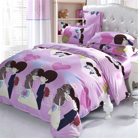 romantic reactive printing wedding bedding set warm