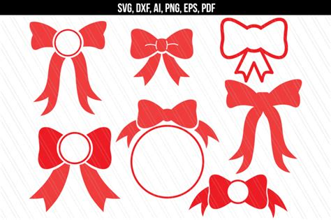 bow svg bow monogram epsdxfaisvgpdfpng