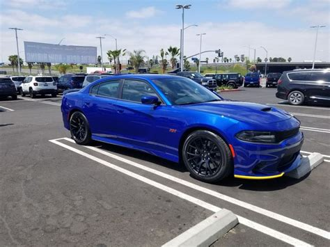 charger scat pack rt indigo blue dodge charger