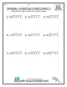 5th Grade Math Long Division Worksheets Printable
