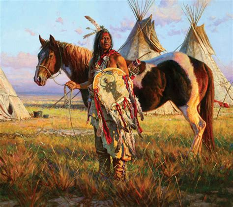 native american horses horse indians indian warrior martin americans grelle artist western tribes paintings pony cowboy detail sioux powers especially