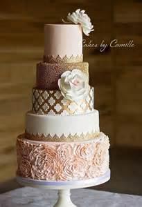 gorgeous wedding cakes gorgeous blush pink and gold wedding cake cakes by camille wedding cakes