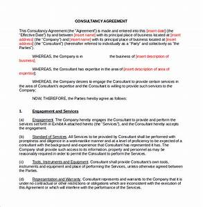 sample consulting contract template 9 free documents in With marketing consultant contract template
