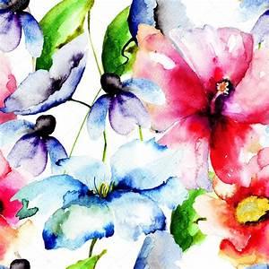 bellissimi fiori, acquerello dipinto — Foto Stock ...