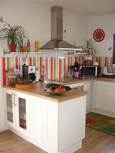 credence de cuisine ikea des photos des photos de fond With carrelage adhesif salle de bain avec ecran led darty