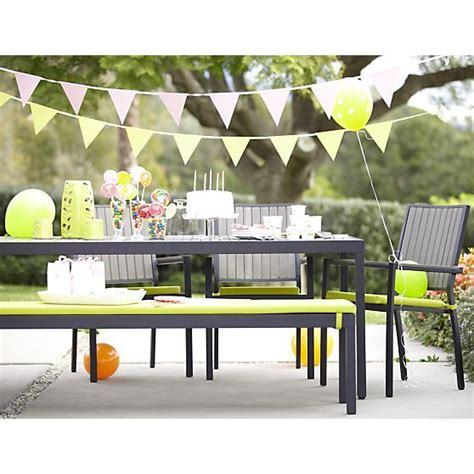 crate and barrel alfresco dining table for 8 apple green