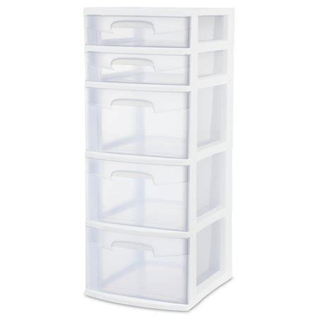 sterilite 5 drawer wide tower white sterilite 5 drawer tower white walmart