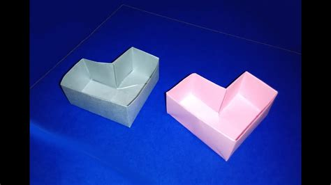 easy origami heart box  valentines day great ideas