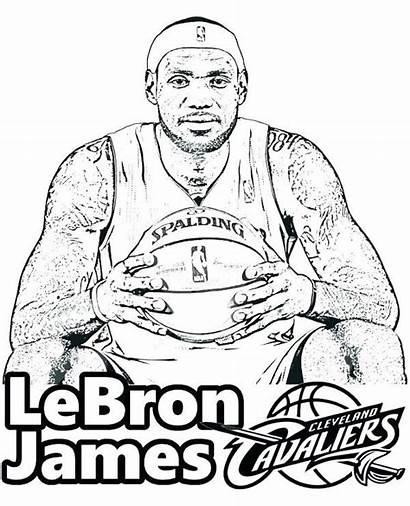 Coloring Nba Basketball Pages Players Lebron James
