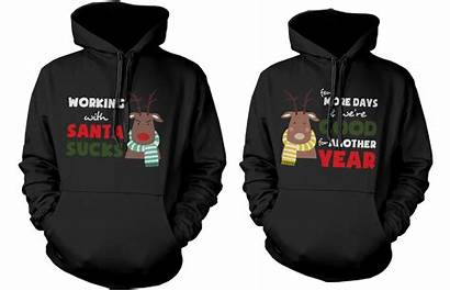 Matching Hoodies Couple Mr Mrs Outfits Rudolph