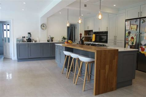 Kitchen Counter Add On by Mix Of Materials Finishes In Island Home Addition