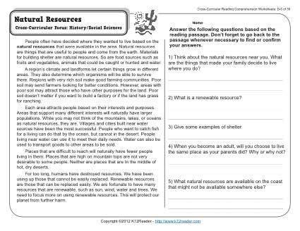 resources reading comprehension activities